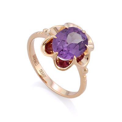 Классическое кольцо с александритом 3.65 г SL-0223-365