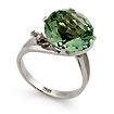 Кольцо с зеленым аметистом и бесцветными топазами SL-2112-419 весом 4.3 г  стоимостью 24080 р.