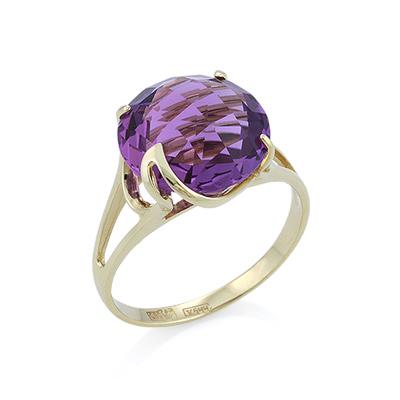 Золотое кольцо с аметистом в желтом золоте 3.71 г SL-2244-371
