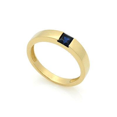 Обручальное кольцо с сапфиром 2.9 г SL-13701-350